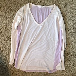 Athleta two toned long sleeve top